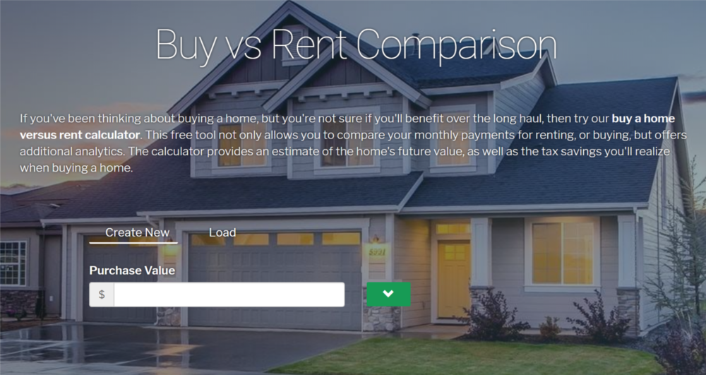 Renting? Get a Comparison based on market specicics.