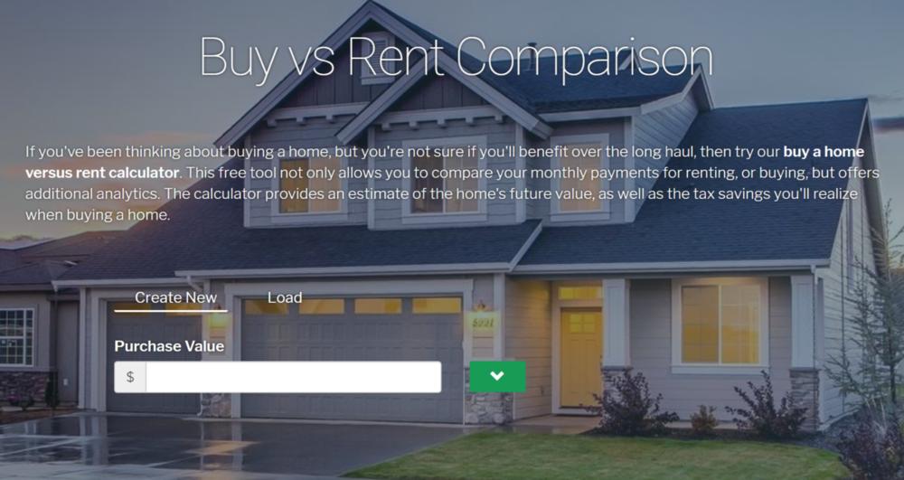Renting? Get a Comparison based on market specicics.