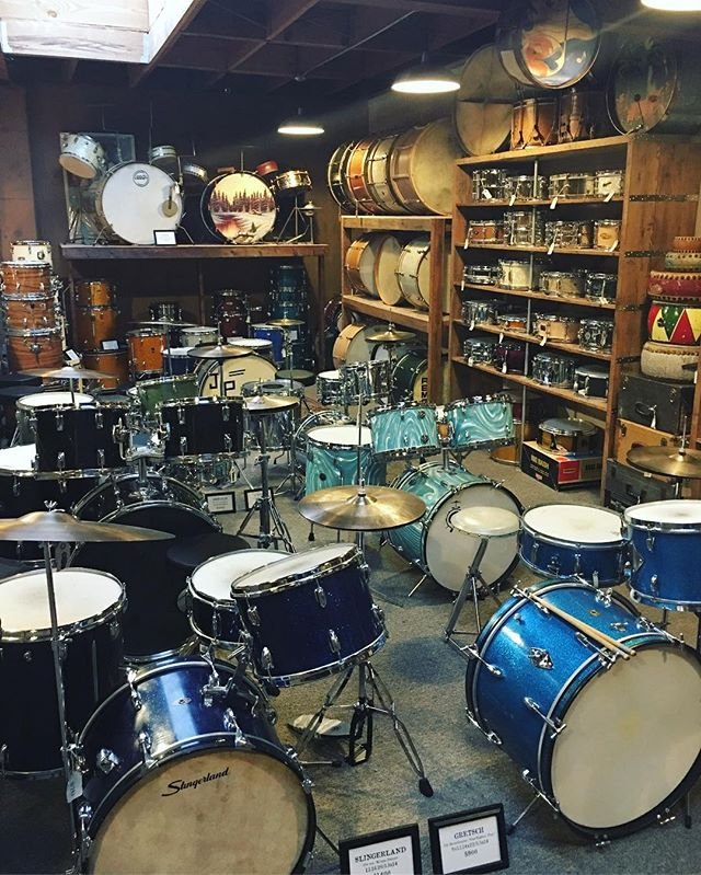 Got to stop by @revival_drum_shop today. Beautiful shop. Friendly people. Always nice to grab drum supplies from a real drum store. #portland #oregon #revivaldrumshop 👌🏼