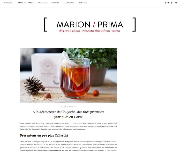Marion Prima Blog