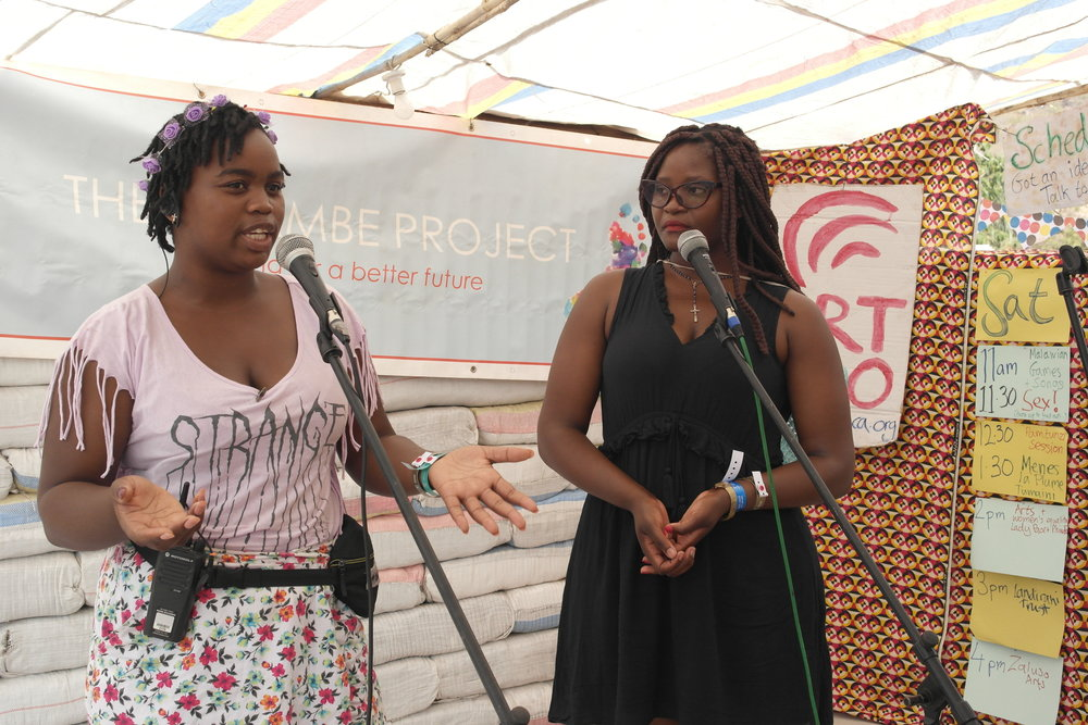 Phindu, a Malawian spoken word artist and poet, performed one of her poems and spoke about women in the arts.