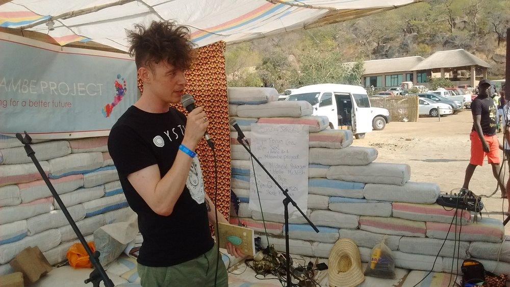 Scottish poet Michael Pedersen performed a poem of his.