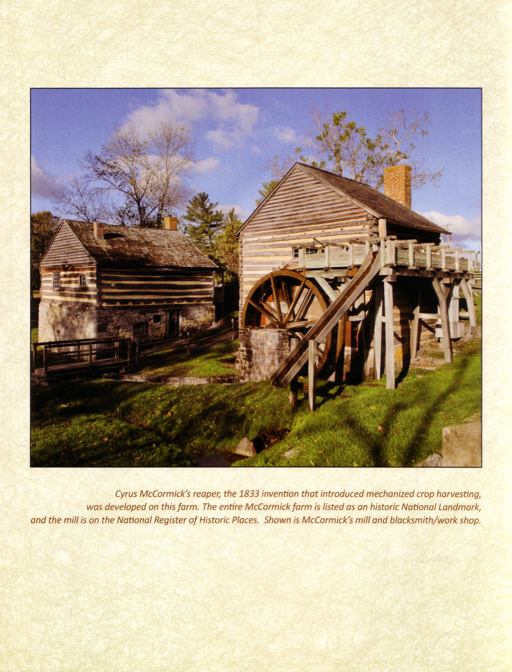 Cyrus McCormick's Farm, National Landmark