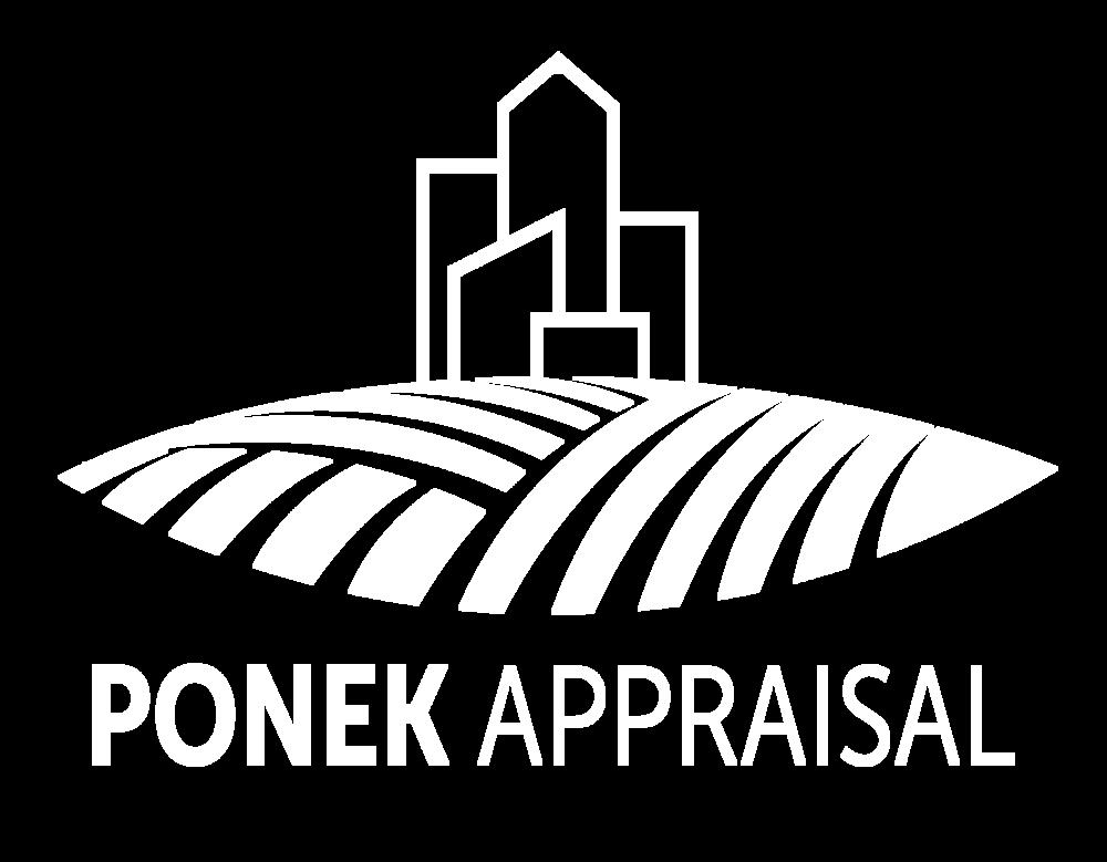 Ponek Appraisal White Logo