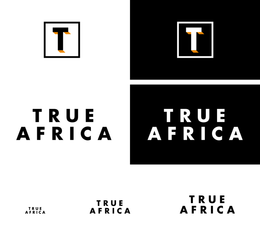 True Africa branding: Icon and word mark