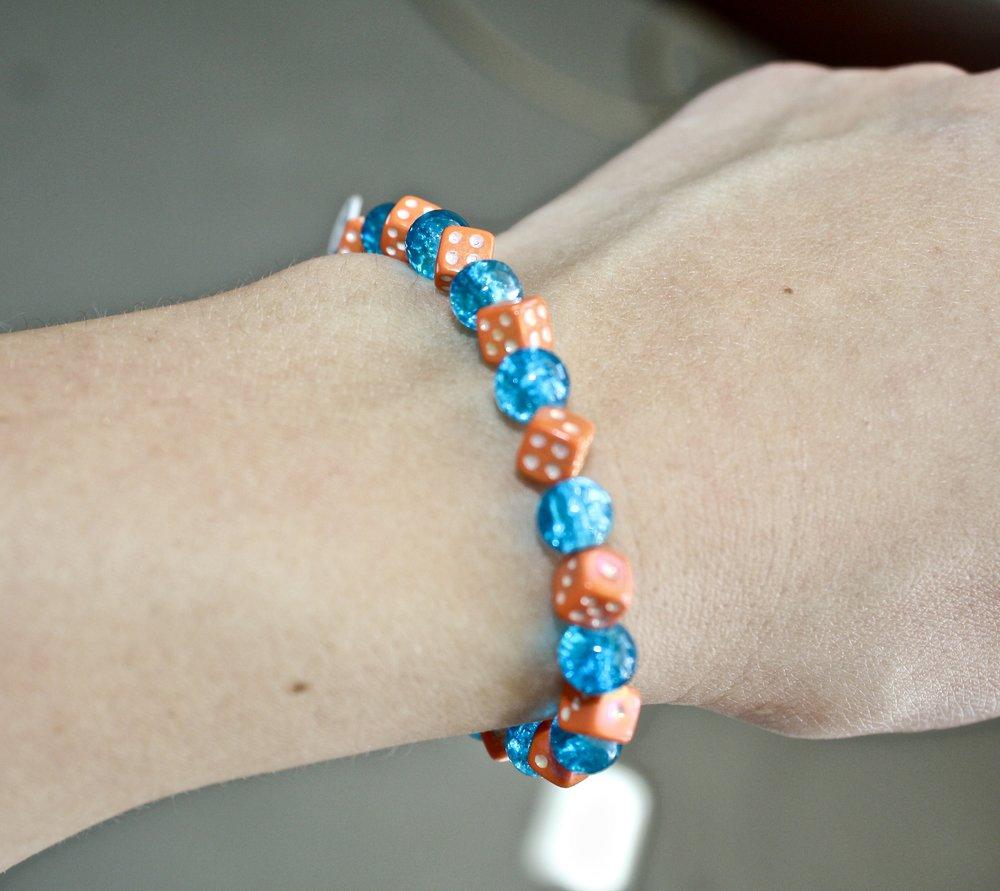 Handcrafted Dice Bracelet
