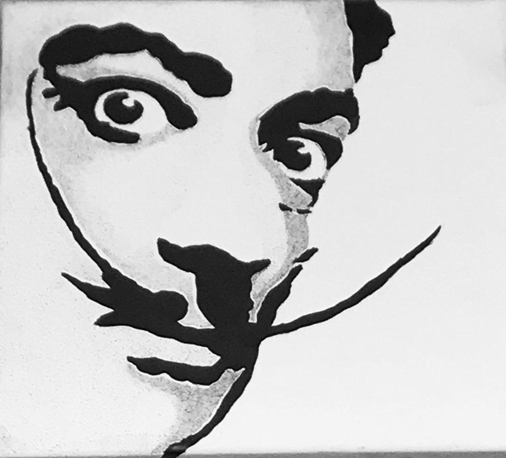 Salvador Dali Canvas Art B&W