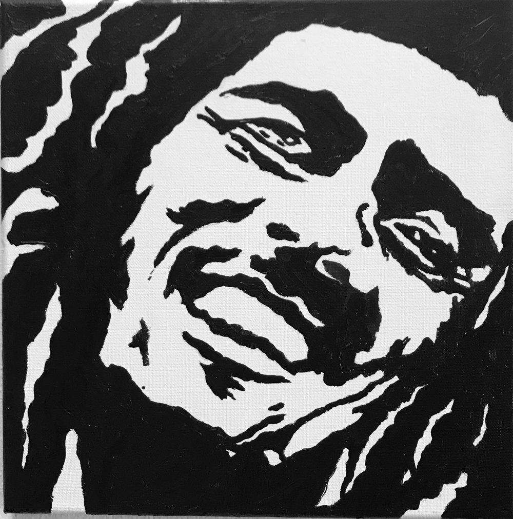 Bob Marley Canvas B&W