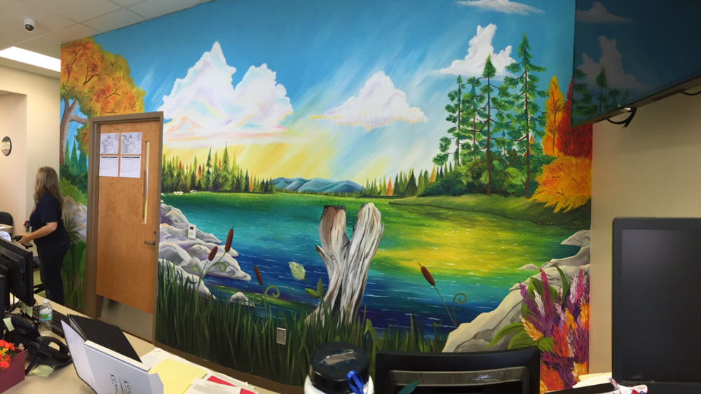 Peaceful Pond Mural