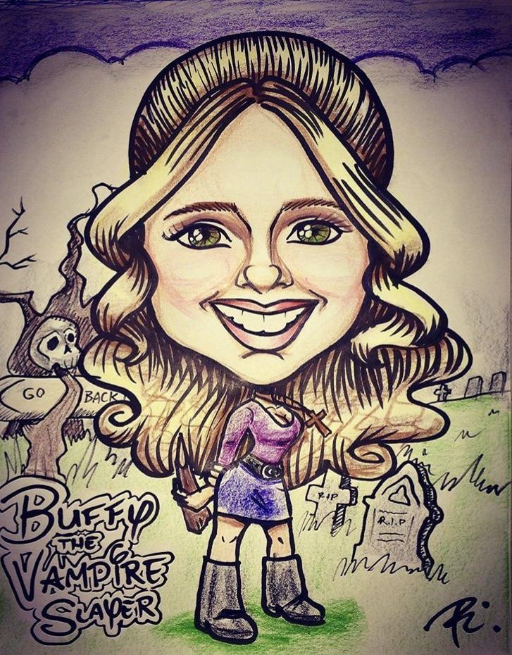 Buffy the Vampire Slayer Caricature