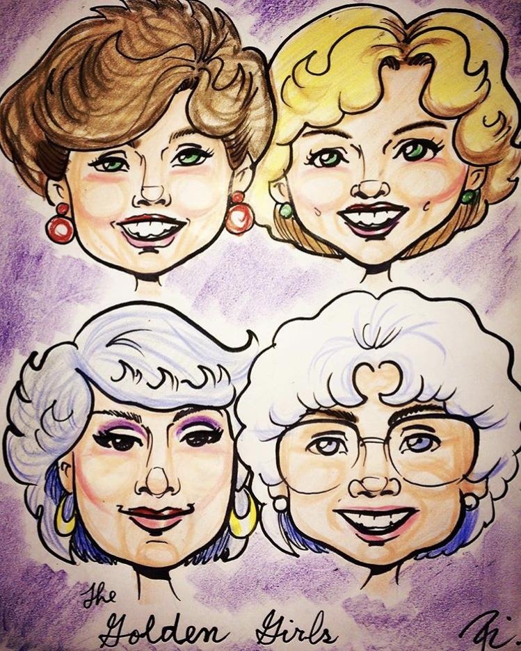 The Golden Girls Caricature