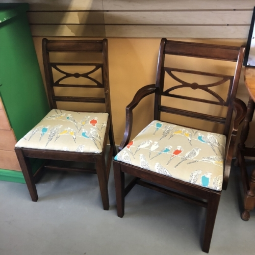 Jeana's bird chairs, available now at Andee's.