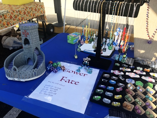 Carley's booth at our September 2018 Outdoor Art Expo.