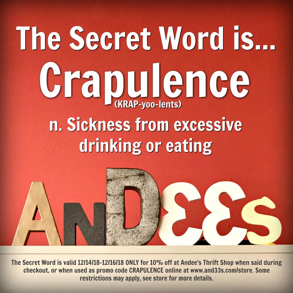 Crapulence