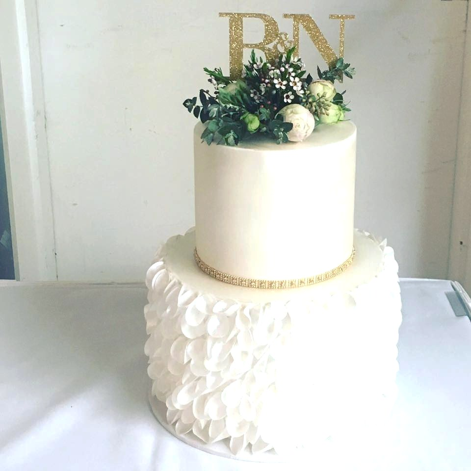 Wedding cake - flowers