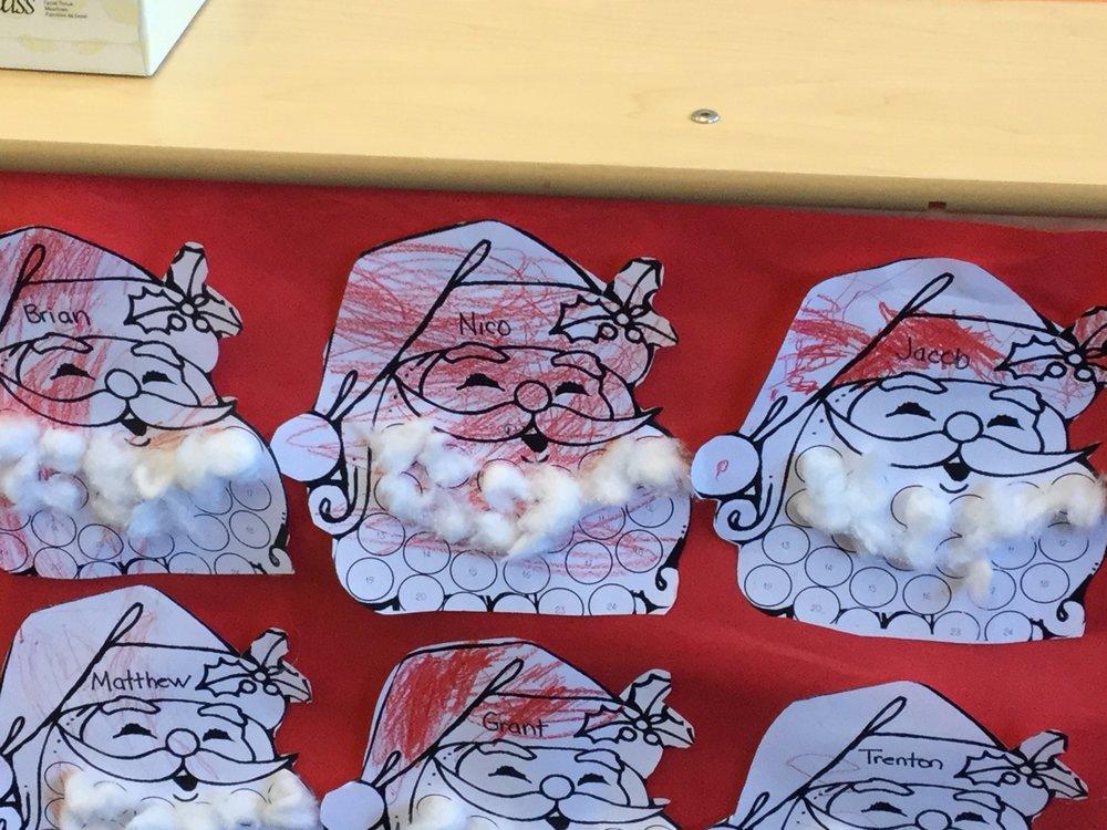 Santa calendars.