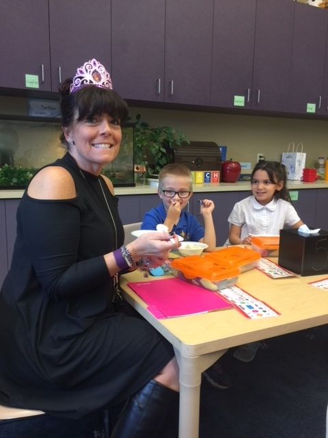 We celebrated Mrs. Meyer's Birthday with Ice Cream Sundaes !
