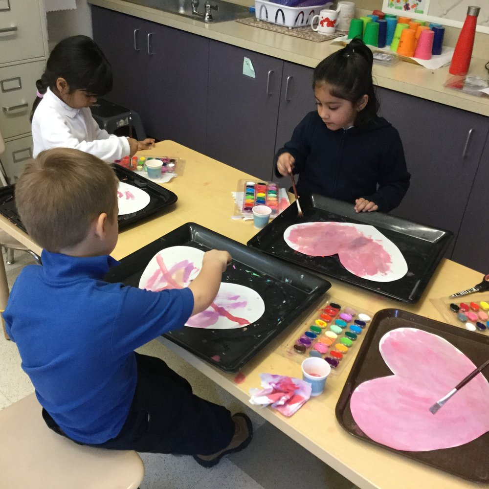 Our little artists at work.