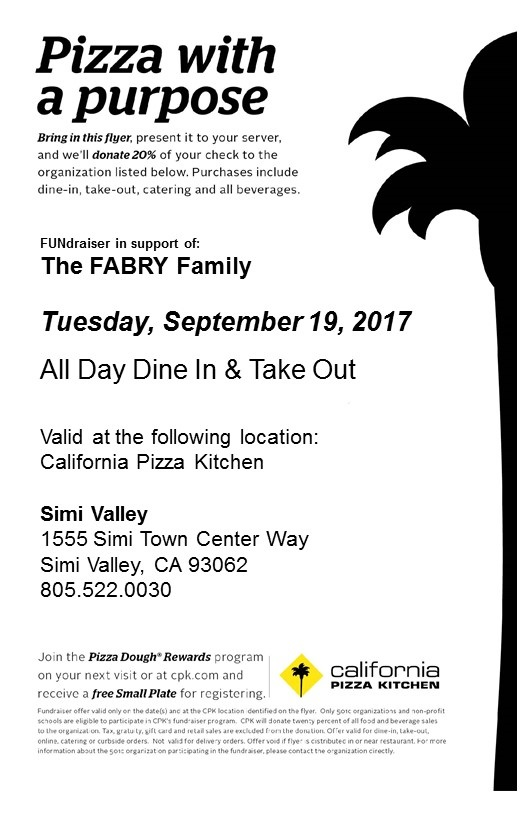 CPK! - First Fundraiser of the year!