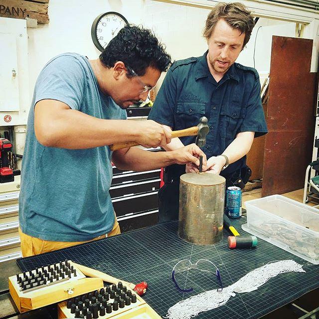 Key stamping at Fremont Laser & Design annual summer party. . . . #maker #makersgonnamake #makerologist