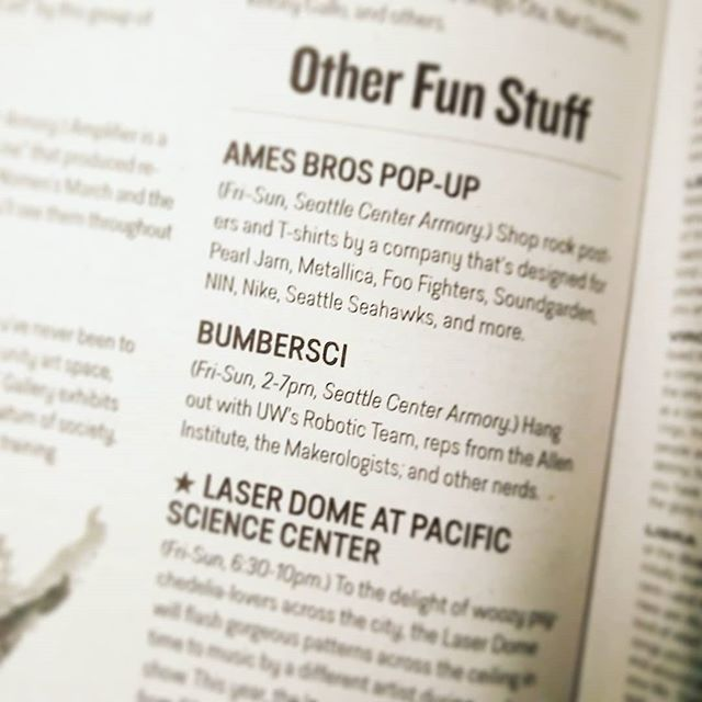 We'll be at @bumbershoot for #bumbersci for the first time. For this event, we'll be showcasing the Makerologists who specialize in Fashion Tech. Come get your 3D printed and laser cut festival accessories & swag by @efficio_fashion @errlooks as well as LED hair extensions by @hairbymakahmatt.