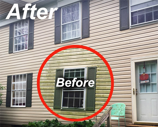 Siding cleaning in Owings Mills Maryland
