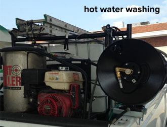 Commercial grade hot water washing equipnet.
