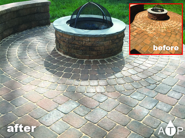 Beautiful back yard paver sealing project in Perryhall Md