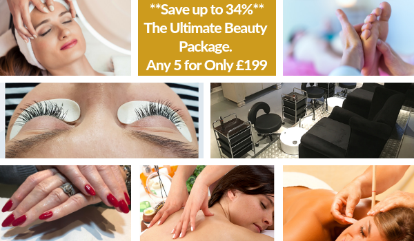 You can save up to 34% by buying this very special package (or getting someone else to buy it for you hint hint hint!). Choose 5 out of the 10 services over 5 months for only £199. Here's what's available:  Aromatherapy Massage (60 mins); Detox Massage (60 mins); Hands-Free Massage (60 mins); Swedish Massage (60 mins); Hopi Ear Candling (60 mins); Reflexology (60 mins); Facial (60 mins); Individual Eyelash Extensions (Full Set); Pure Luxury Pedicure; Pure Luxury Manicure   To purchase just come into the shop and buy the package for £199. You (or the person you have bought it for), then have 5 months to use the package in its entirety. Each service can be booked online and can be deducted from the package at checkout. Simple and ultimate beauty!