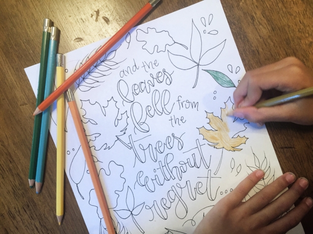 OTWH Fall Leaves Printable