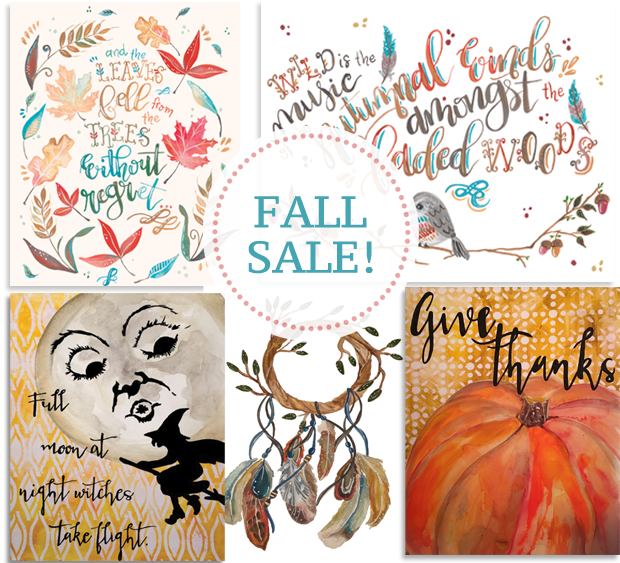 Off The Wall Home Fall Prints Fall Sale at www.offthewallhome.etsy.com