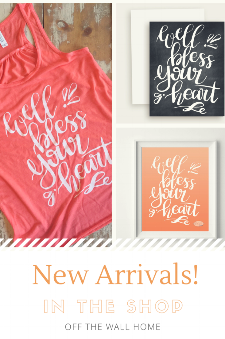 New Hand Lettered Shirts, Prints and Cards from Off The Wall Home at www.offthewallhome.etsy.com