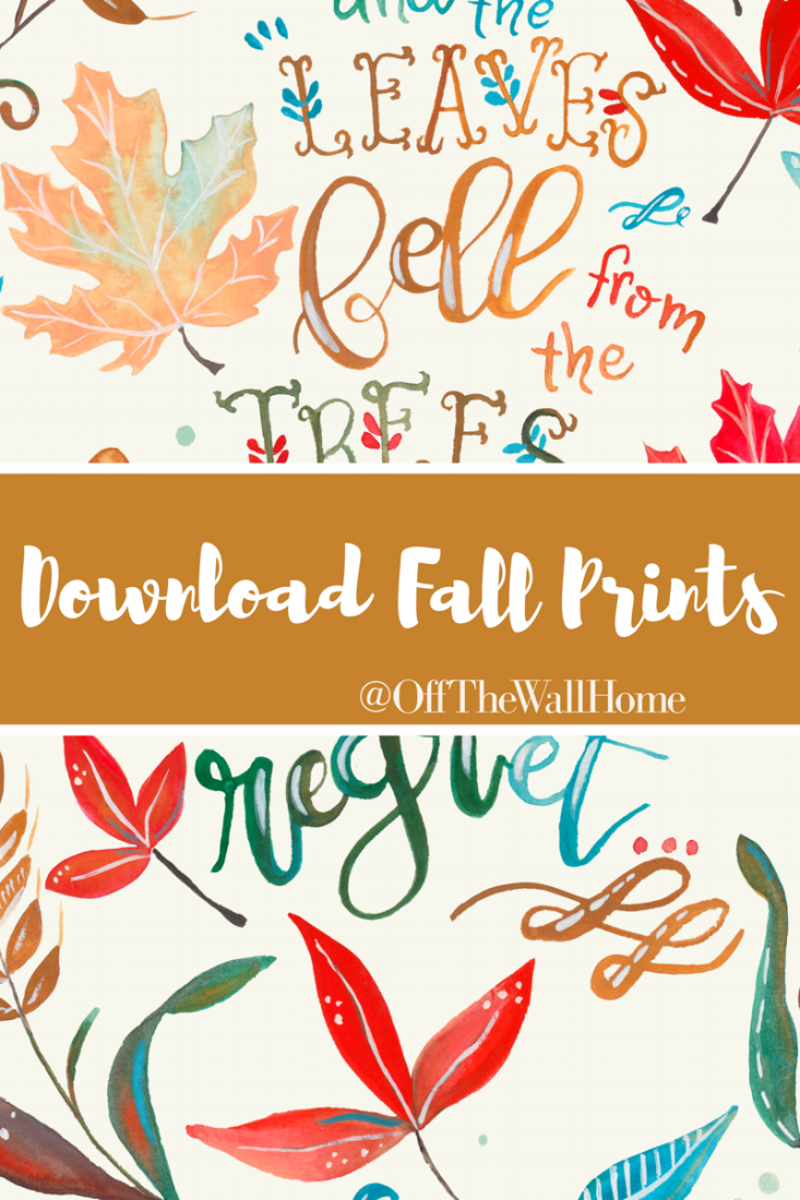 Hand Lettered Fall Print Downloads for Off The Wall Home at www.offthewallhome.etsy.com