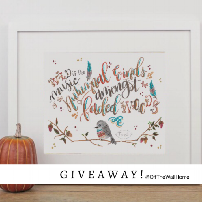 Win this Hand Lettered Fall Print by Off The Wall Home at www.offthewallhome.com/blog