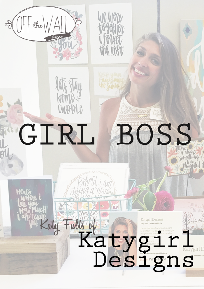 GIRL BOSS Katy Fults of Katygirl Designs on Off The Wall Home www.offthewallhome.com