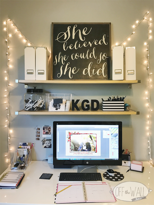 GIRL BOSS Katygirl Designs Office on Off The Wall Home at www.offthewallhome.com