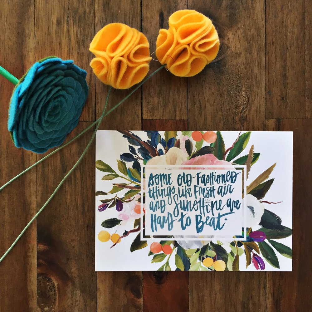 Katygirl Designs Hand Lettered Print on Off The Wall Home