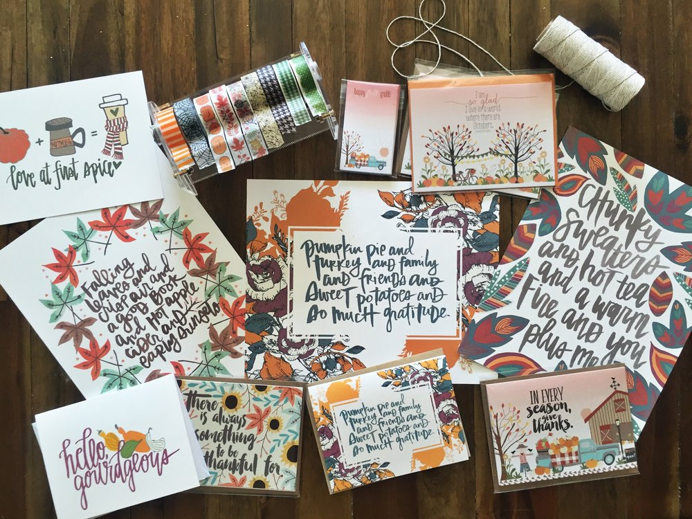 Katygirl Designs Hand Lettered Prints on Off The Wall Home