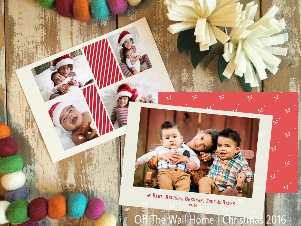 Hand Lettered Watercolor Custom Christmas Photo Cards by Off The Wall Home available at www.offthewallhome.etsy.com
