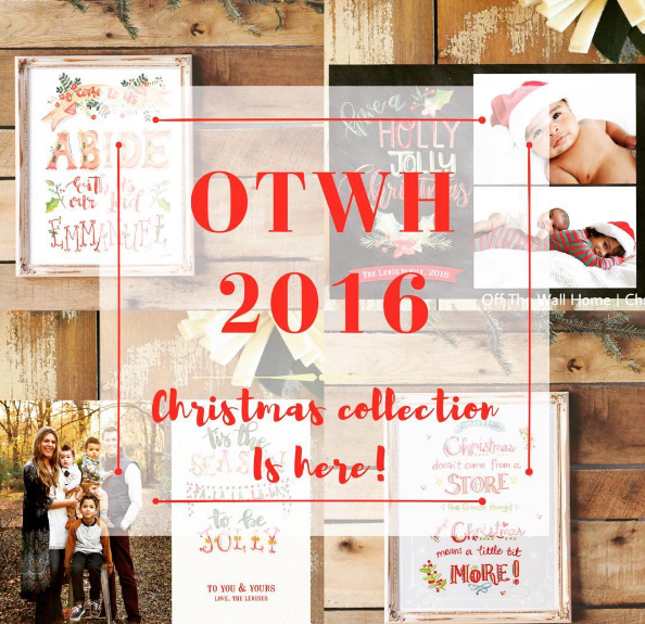 Off The Wall Home Hand Lettered Christmas Print and Card Collection
