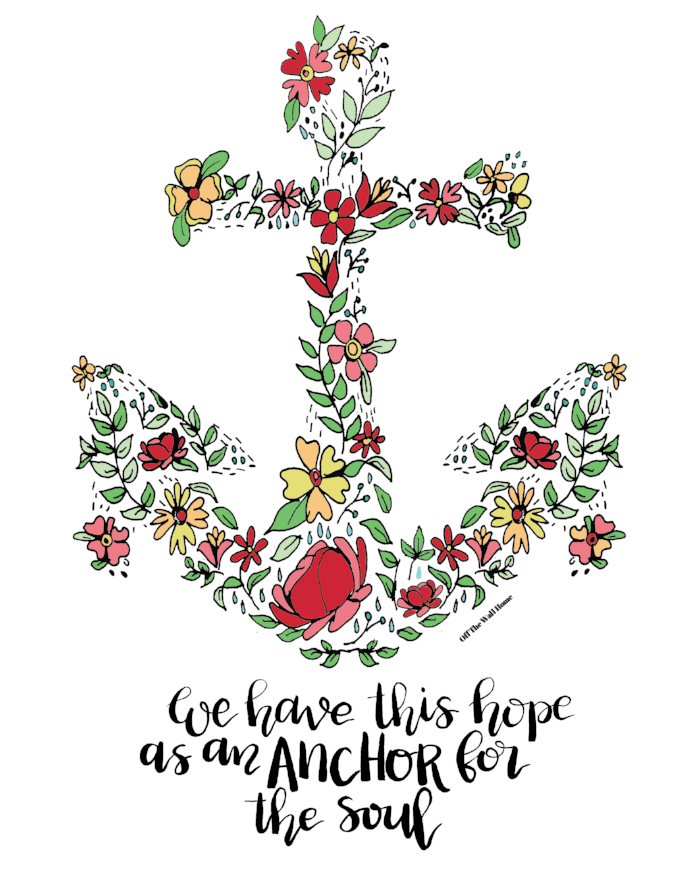 Hope As An Anchor for the Soul Print by Off The Wall Home