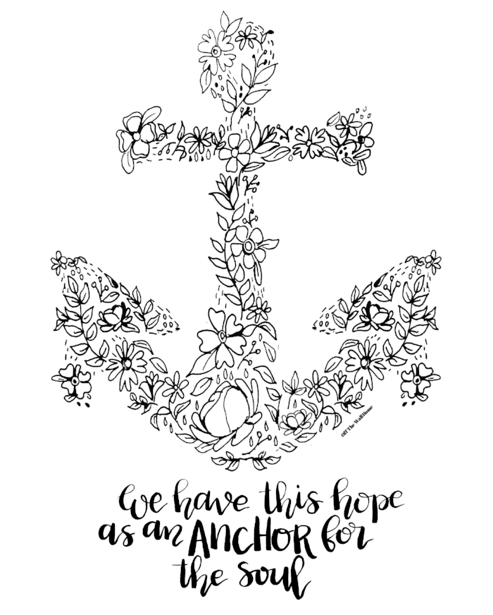 Anchor For The Soul by Off The Wall Home Coloring Page Free Download
