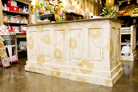 Pop Floral Desk by Off The Wall Home at Itty Bitty Bella, Collierville TN.