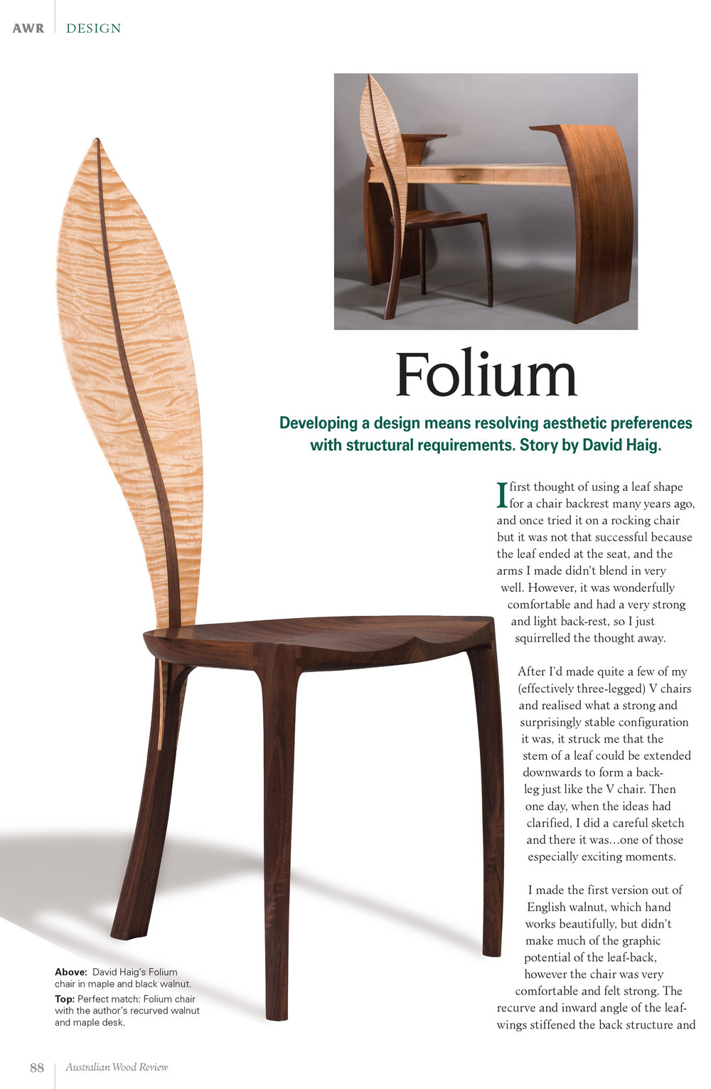 Australian Wood Review   Folium