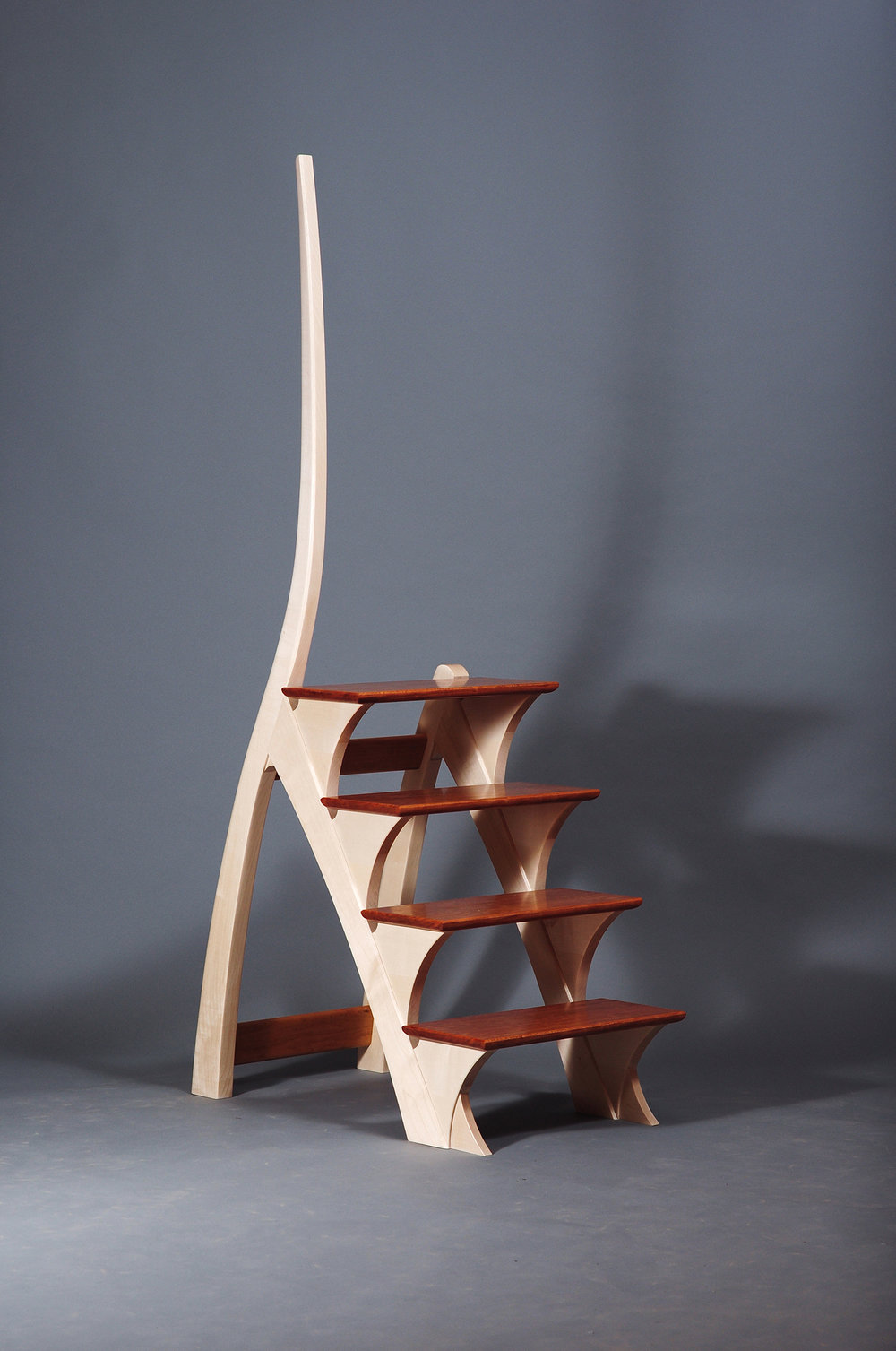 The Professor's steps, sycamore and cherry, 2014.jpg