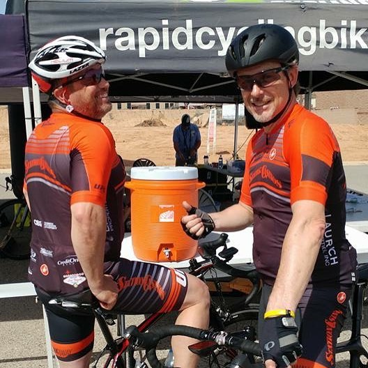 What an exciting weekend we are having! Shout out to Mark Carmen who placed 5th in yesterday's St. George #Crit, hosted by @rapidcyclingracing Awesome job Matt Stoner, as well!! Good luck to those #racing today: Chris Sproule racing the LA Marathon, and Mark Weimer and Lance Coburn #racing the Santa Clarita #Crit! 🏁