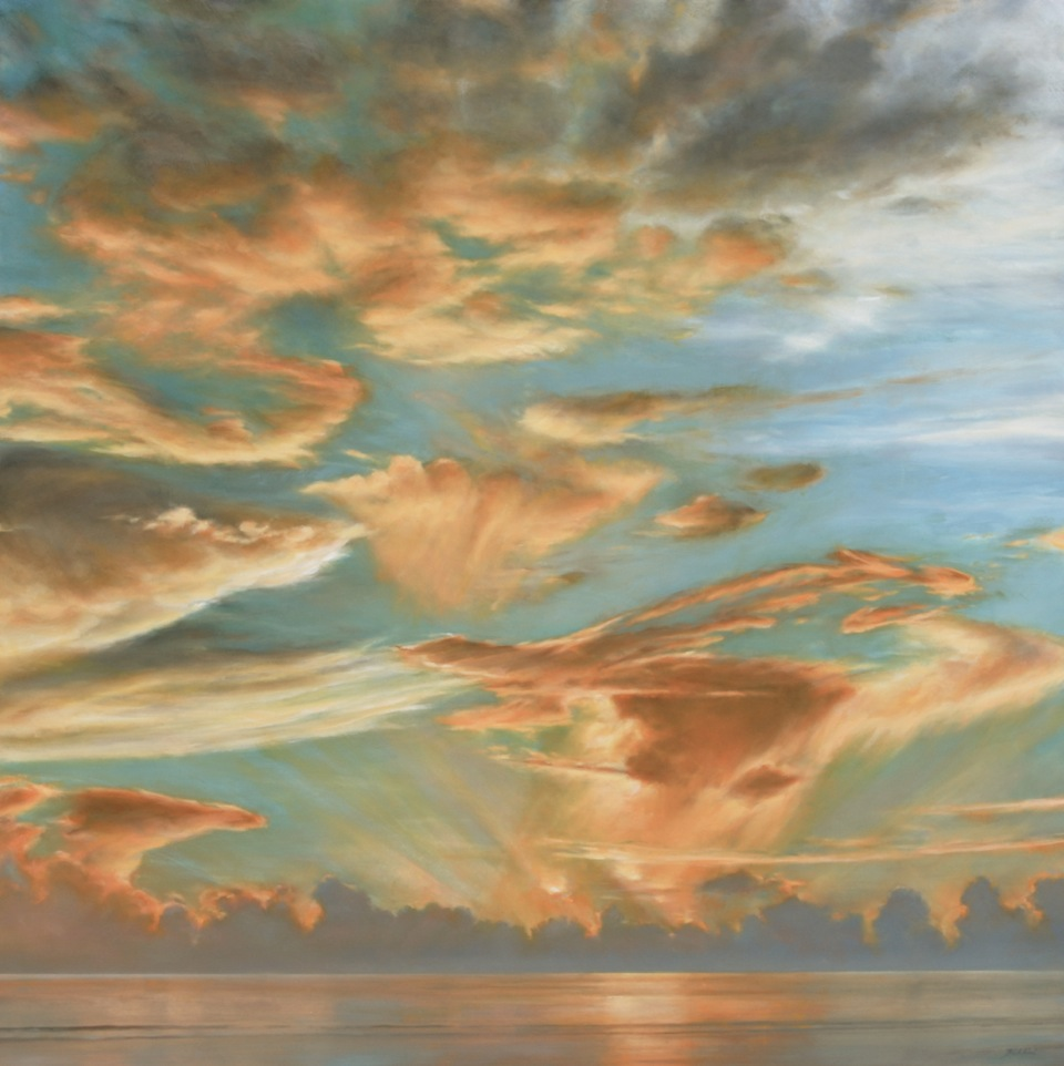"Florida Sky 36  (sold) oil on board, 48"" x 48"" 2015"