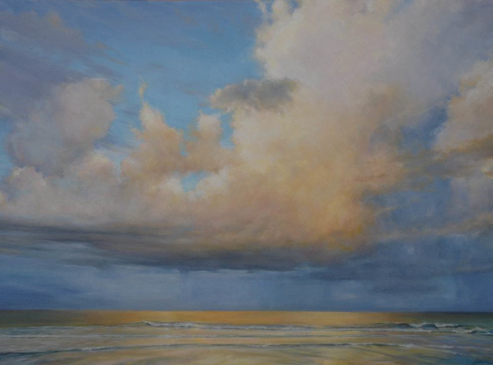 "Florida Sky 4  (sold) oil on board, 36"" x 48"" 2012"