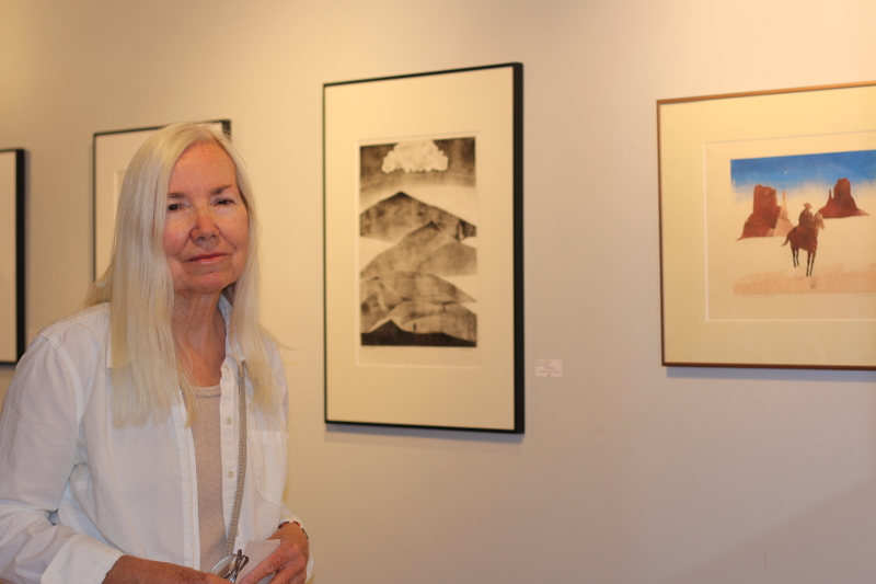 Artist Linda Hunsaker (photo by Shannen Hayes)