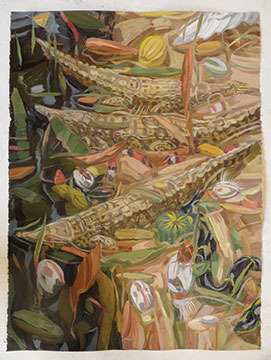 Peaceable Kingdom 6 peaceful-crocodiles-oil-on-paper-2012-24x28.jpg